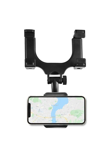 MF Product MF Product Jettpower 0181 Araç İçi Dikiz Aynası Telefon Tutucu Siyah